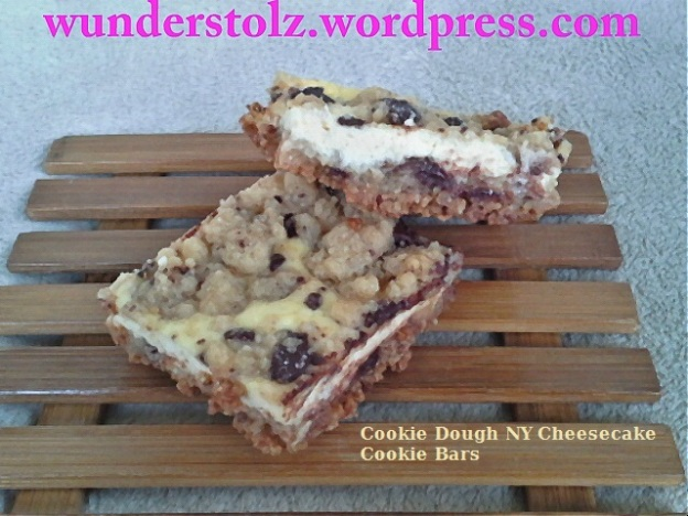 Cookie Dough NY Cheesecake Cookie Bars